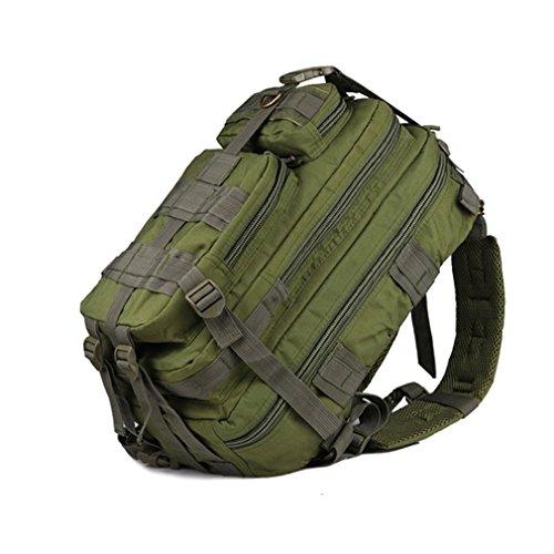 Hiking Camping Bag Army Military Trekking Rucksack Backpack Camo Storage Bag amy green 30-40L by DWEFVS