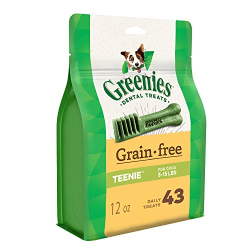 Cheap Greenies Grain Free Teenie Dental Dog Treats, 12 Oz. Pack (43 Treats)