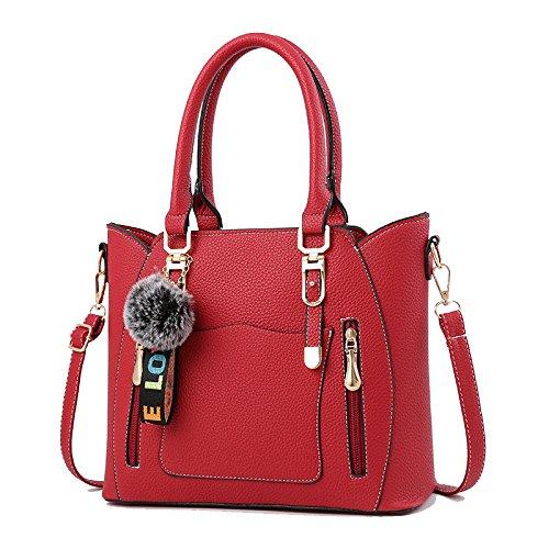 ZLL Sauvage à Red Women's Mode Sac Femme Bandoulière La Sac bag Main De à La Diagonale Sac De rrqHgPU