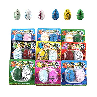 Alician 2Pcs Cute Magic Hatching Growing Dinosaur Eggs Add Water Growing Dinosaur Novelty Gag Toys for Child Kids Educational Toys Gifts Tools: Office Products