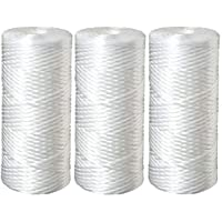 Three 5 Micron Polypropylene String Wound Water Filter Cartridges Compatible with 3M Aqua-Pure AP814 & Pentek WP5BB97P, WPX5BB97P, WP5BB975 by CFS