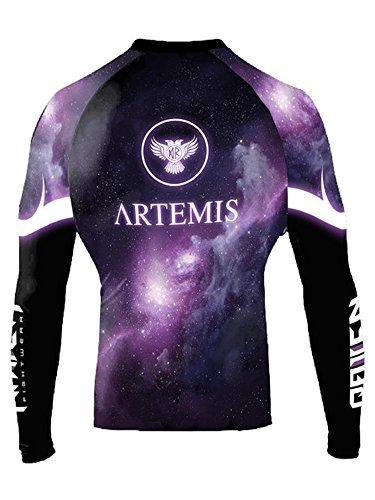 Raven Fightwear Women's The Gods of Greece Artemis Rash Guard MMA BJJ Black X-Large rash guard mma 2
