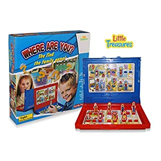 Little Treasures Where are You? The Find The Family Game, Find Your Opponents Family Before They Find Yours! Great Logical Thinking Skill, Parent Child Game.