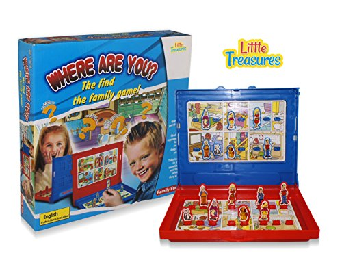 Little Treasures Where are You? The Find The Family Game, Find Your Opponents Family Before They Find Yours! Great Logical Thinking Skill, Parent Child Game. ()
