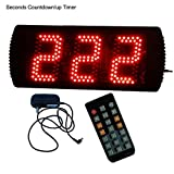 AZOOU IR Remote Control 5'' LED Days Countdown Timer Support Max 999 Days Count Red Color