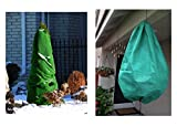 NuVue Products 30500 Synlap Sythetic Burlap Roll, 42'' x 25', Green & NuVue Products 30400 Hanging Flower Basket Frost Cover, 28'' X 40'' Bundle