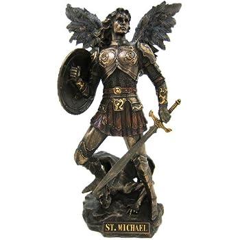 Amazon.com: St. Michael the archangel Statue.: Home & Kitchen