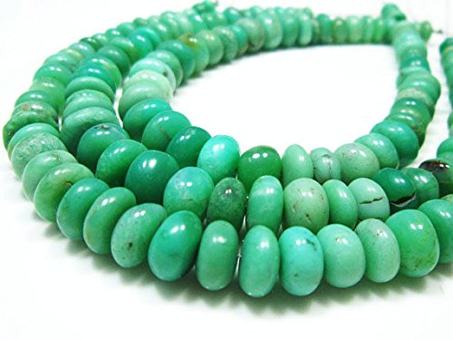 AA-Chrysoprase Smooth Big Rondelles- 8 Strand -Stones measure -5-8mm