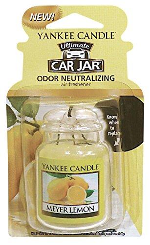Yankee Candle Gel Car Jar Ultimate Air Freshener, Meyer Lemon Scent Fast Shipping by Air Freshener