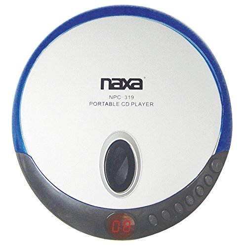 Naxa NPC-319 Slim Personal Compact Disc Player with Stereo E