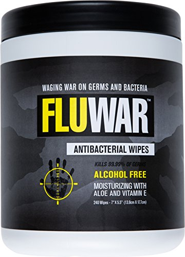 FluWar Antibacterial Cleanser Wipes Container product image