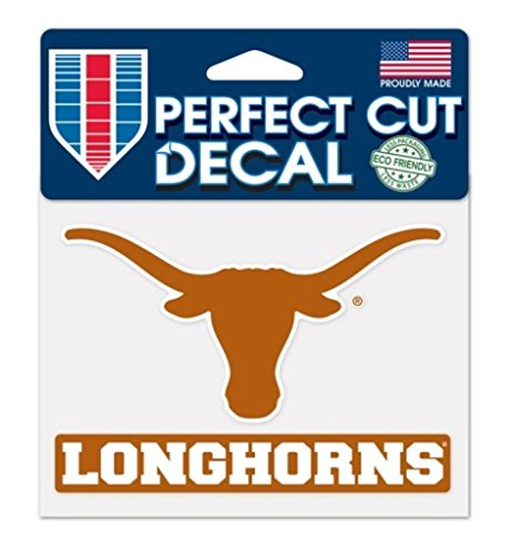 Wincraft NCAA Official University of Texas Longhorns 4''x5'' Perfect Cut Decal