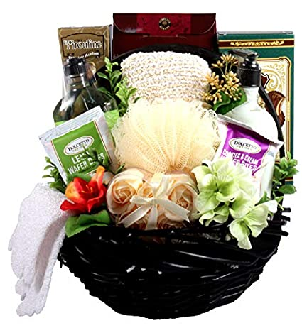 Christmas Gift Baskets For Women.The Spa Day At Home Premium Spa Gift Basket For Women Christmas Gift Idea