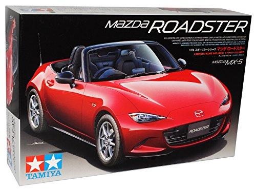 Mazda MX-5 ND Cabrio Rot 4. Generation Ab 2015 24342 Kit Bausatz 1/24 Tamiya Modell Auto mit individiuellem Wunschkennzeichen