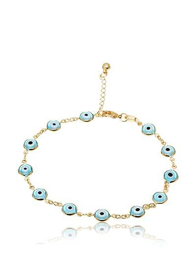 Córdoba Jewels | Pulsera en goldfilled Laminado de Oro 14/20. Diseño Ojo Turco Goldfilled: Amazon.es: Joyería