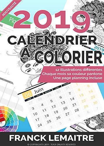 Calendrier Du Zodiaque.Calendrier 2019 A Colorier Theme Les Signes Du Zodiaque