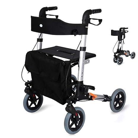LQFLD Andador Ultraligero Plegable Andador Marco para Caminar ...