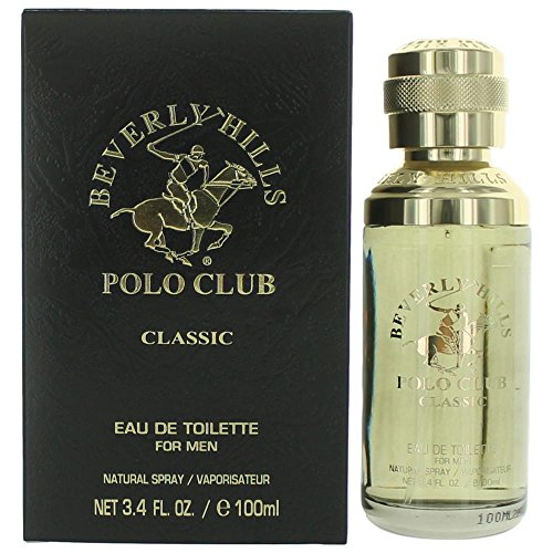 Beverly Hills Polo Club Classic Eau de Toilette Spray for Men, 3.4 Ounce