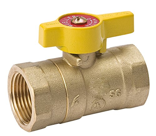 Mueller 110-223C Forged Brass Two-Piece Body Gas Ball Valve, 1/2-Inch (Gas 1/2 Ball Valve)