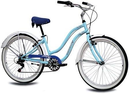 KCP - ALOHA 2.0 RETRO LOOK Bicicleta beachcruiser para mujer, tamaño 26 (66,0 cm), color azul, 6 velocidades Shimano: Amazon.es: Deportes y aire libre