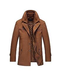 RUAYE OCHENTA Men's Wool Pea Coat Winter Car Coat