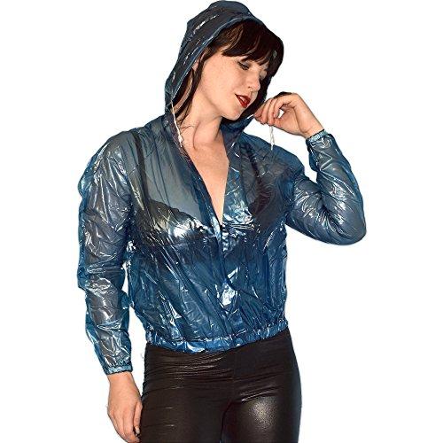 Honeylust Blu Giacca Honeylust Donna Donna Impermeabile Impermeabile Blu Giacca wvqf1Iwx6
