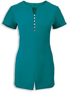 Alexandra STC-NF58LO-20 Women's Notch Neck Beauty Tunic, Plain, 100% Polyester, Size: 20, Lagoon
