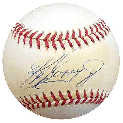 Ken Griffey Jr Autographed Baseball - Ken Griffey Jr. Autographed Official AL Baseball Seattle Mariners Beckett BAS #D12720