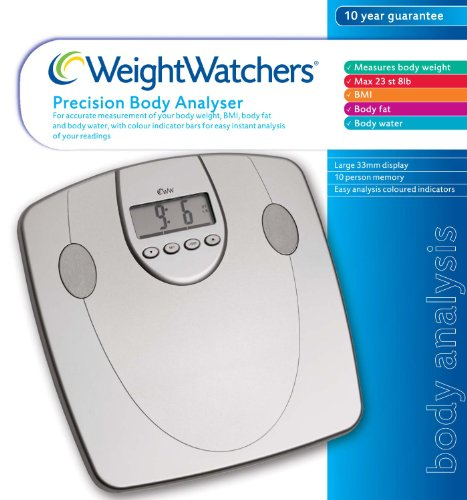 Weightwatchers Body Fat Precision Bathroom Scale Silver (Weight watchers...