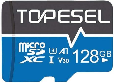 Tarjeta Micro SD 128GB, TOPESEL Tarjeta Memoria Alta Velocidad 85 MB/s SDXC Mini Tarjeta TF para Móvil, Tablet, Cámara, Tarjeta microSD 128GB (A1, U3 y V30) Azul: Amazon.es: Electrónica
