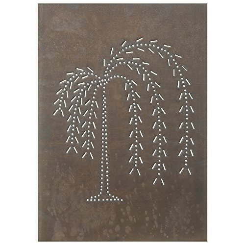 Irvin's Country Tinware Vertical Willow Panel in Blackened Tin