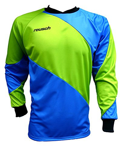 - Reusch Soccer Prisma Long Sleeve Goalkeeper Jersey, Blue/Green, Adult Medium