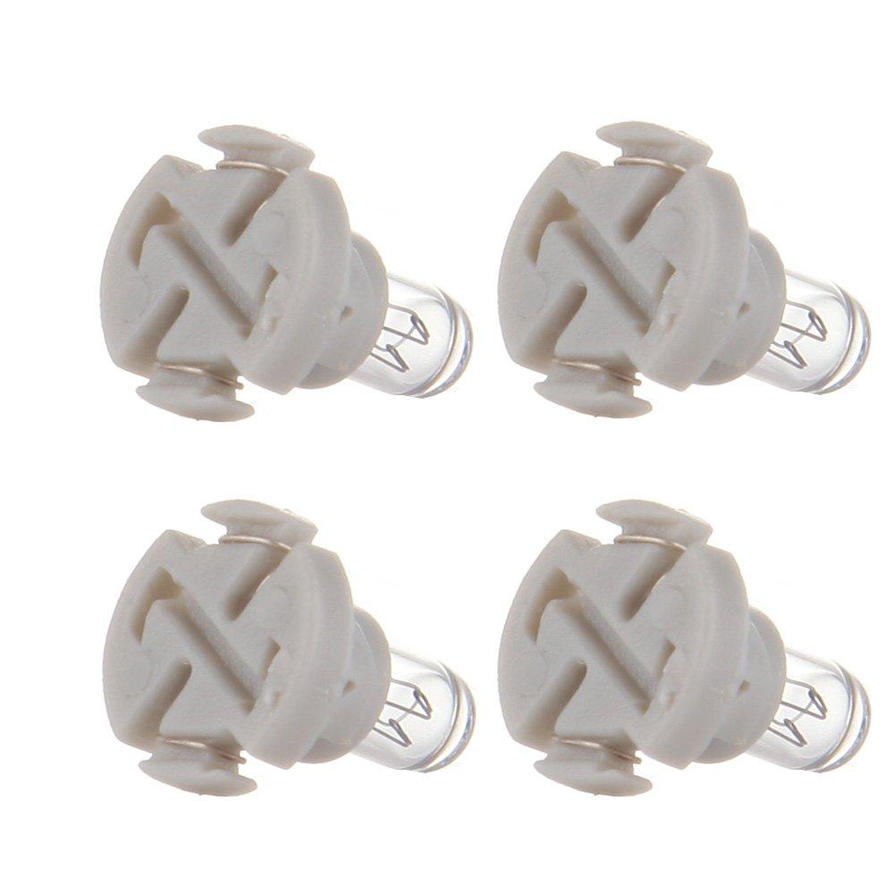 cciyu T4//T4.2 Neo Wedge Halogen A//C Climate Control Bulb Instrumnet Panel Dash Light,4Pack
