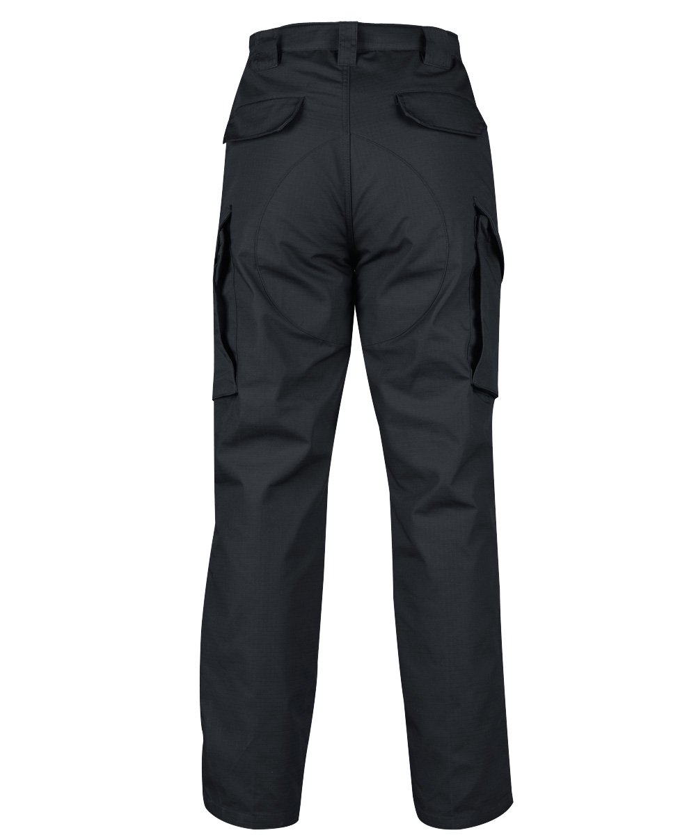 HARD LAND Men's Tactical Pants Waterproof Ripstop Cargo Work Pants with Elastic Waist for Hiking Hunting Fishing Size44W×32L Charcoal Grey by HARD LAND (Image #2)