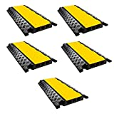 RK RK-CP-3C 3 Channel Modular Rubber Cable Protector Ramp (Straight, Qty:5)