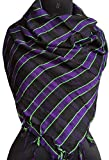 Scarf for Men Winter Stylish Classic Man Soft Neck Scarves (Black Purple)
