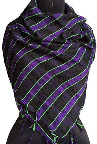 Scarf for Men Winter Stylish Classic Man Soft Neck Scarves (Black Purple) by Dhingali (Image #1)