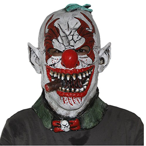 GN Netcom Scary Horror face Fonzo The Clown-Adult Teen Halloween Latex Mask -
