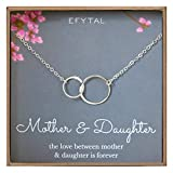 EFYTAL-Mother-Daughter-Necklace--Sterling-Silver-Two-Interlocking-Infinity-Double-Circles-Mothers-Day-Jewelry-