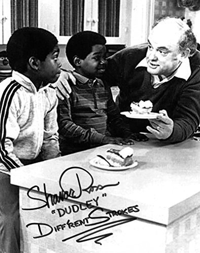 - Shavar Ross Hand Signed 8x10 Photo Gary Coleman Gordon Jump Diff'rent Strokes The Bicycle Man Episode Arnold and Dudley TV Show Original New Autograph B&W Print 1983 (Official)