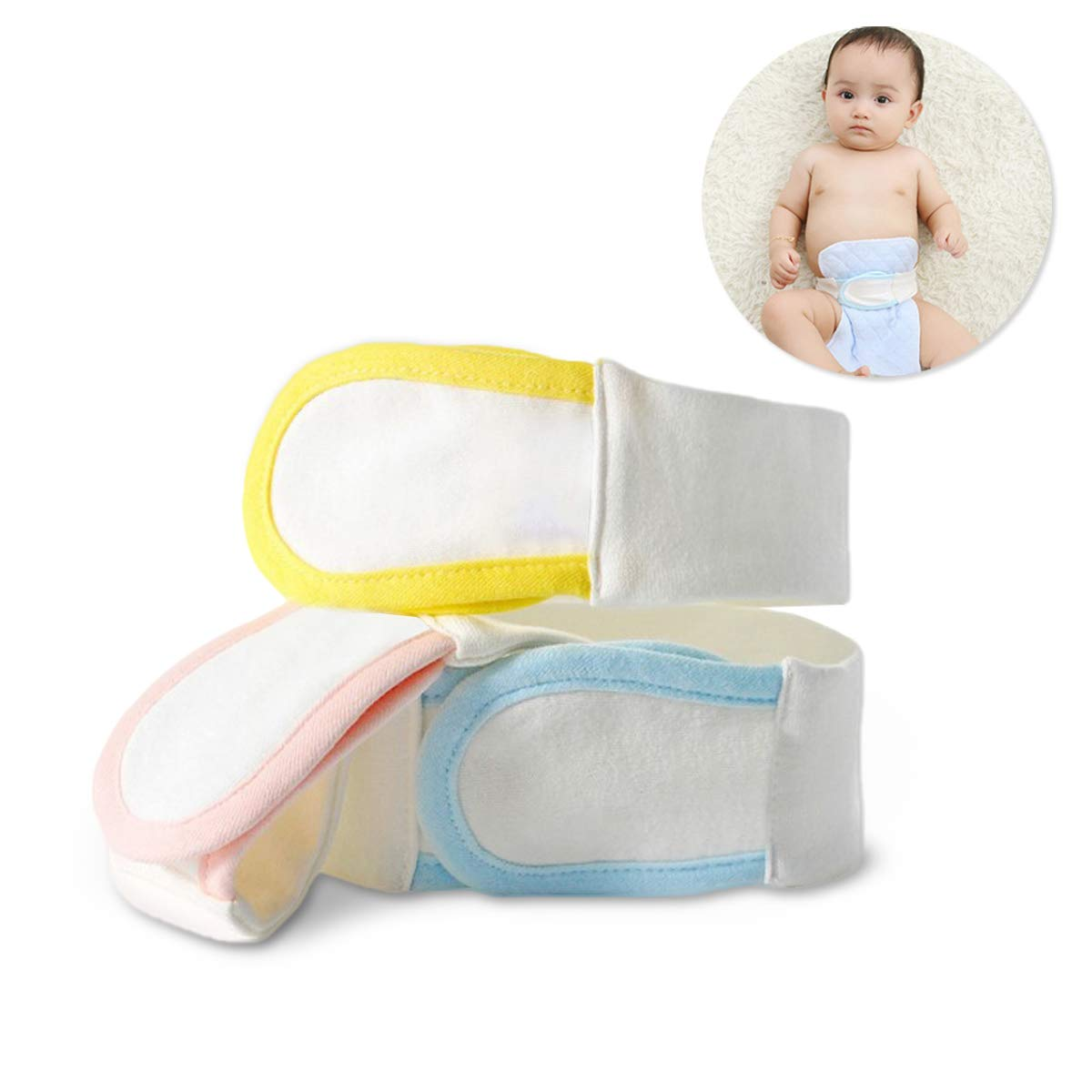 Diaper Belt Baby,Diaper Fasteners,Cotton Reusable Baby Cloth Diaper Fasteners Adjustable Newborn Nappy Fixed Belt(3 Pack) by Ailuck