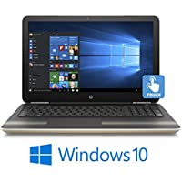2017 Newest HP Pavilion 15.6 Inch Touchscreen High Performance Premium Flagship Laptop (Intel Core i5-6200U up to 2.8GHz, 8GB RAM, 128GB SSD, DVD, WiFi, Backlit Keyboard, Bluetooth, Windows 10) Gold