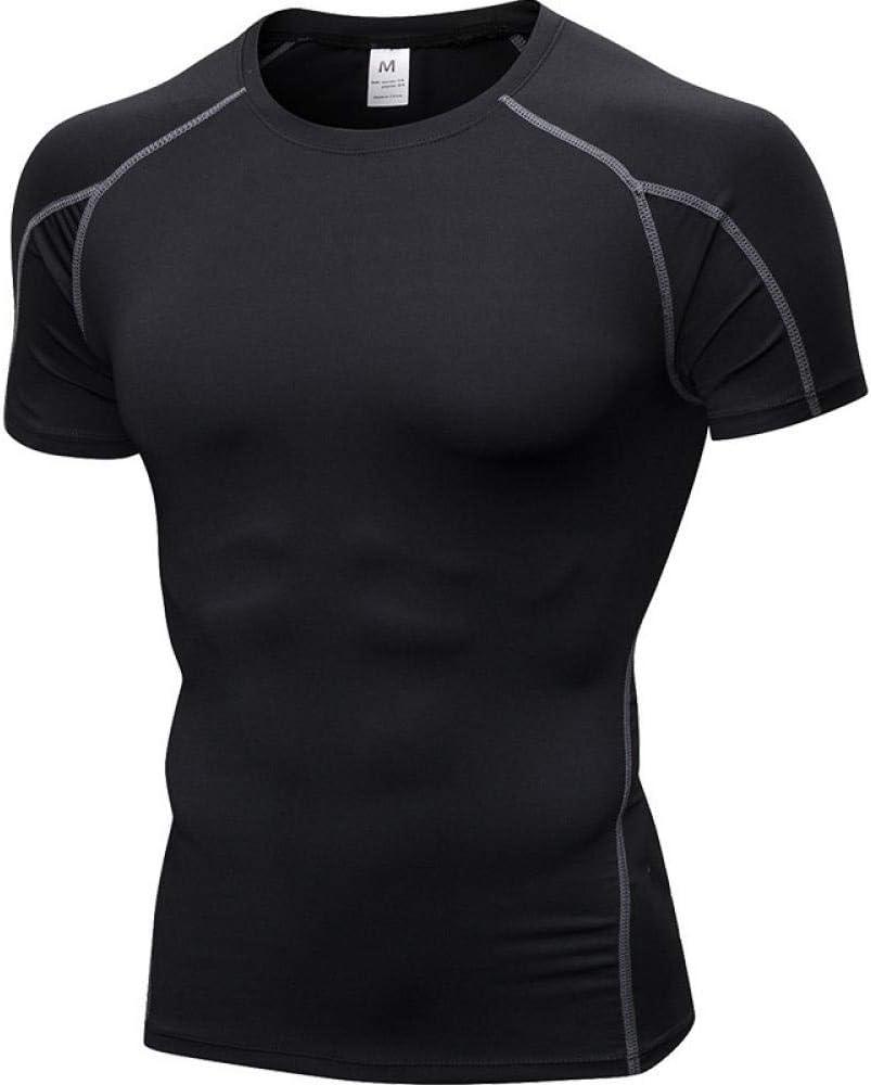 HI SBM Camisa de Running para Hombre de Alta Elasticidad,Ropa de Gimnasia Ajustada y de Secado rápido para Hombres