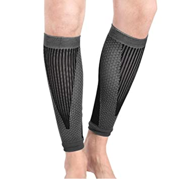 68ab7de202 Spotbrace Compression Calf Sleeve Support 1 Pair, Unisex Sports Calf Leg  Compression Stockings Breathable Elastic