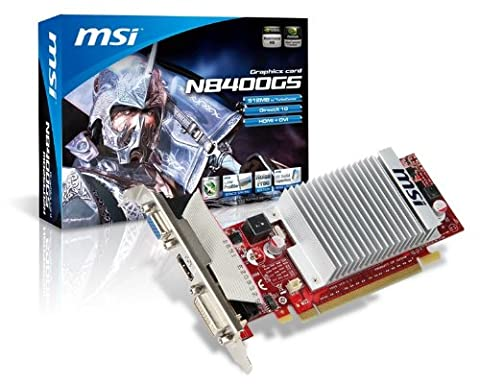 MSI GeForce 8400 GS 512 MB Turbo cache (256M) 64-bit PCI Express 2.0 x16 HDCP Ready Video Card - Hottest Ticket