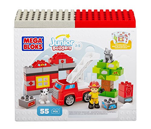 Mega Bloks DCK75 Junior Building Blocks Fire Station Rescue
