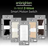 GE, White & Light Almond, Enbrighten Z-Wave Plus Smart Motion Light Switch, Works with Alexa, Google Assistant, SmartThings, Wink, Zwave Hub Required, Repeater/Range Extender, 3-Way Compatible, 26931