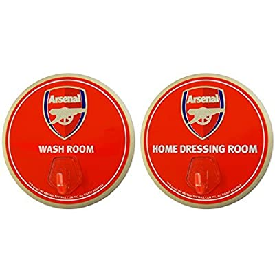 Official Arsenal FC 2 Pack Signs with Hanging Hooks