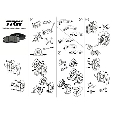 TRW Automotive TPC1679 Black Premium Disc Brake Pad Set: Automotive