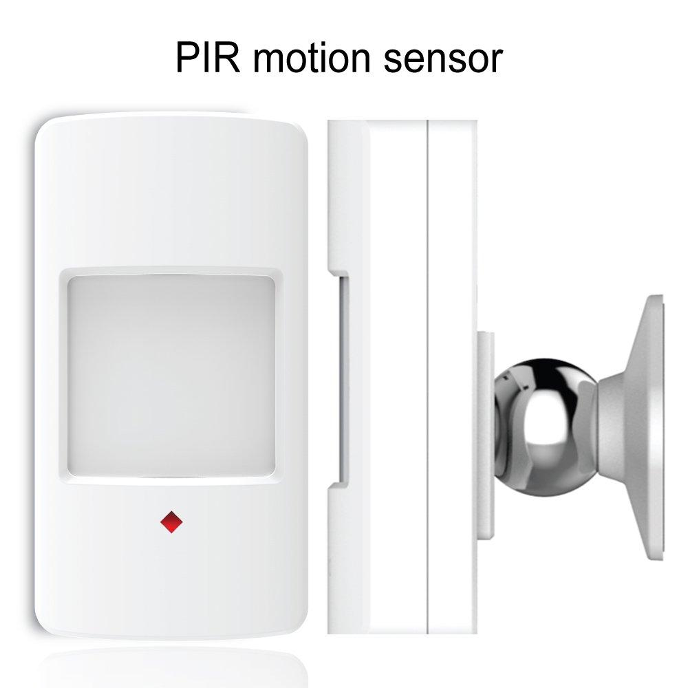 Wireless Motion Sensor(PIR), DIY Home&Business PIR motion detector sensor, Anti-Thief, PS01, White